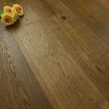 190mm Engineered Brushed & UV Oiled Dark Smoked Charnwood Oak Flooring 2.166m²