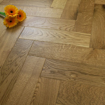90mm Engineered Brushed & UV Oiled Smoked Charnwood Oak Parquet Block Wood Flooring 1.07m²