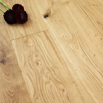 180mm Brushed & UV Oiled Engineered Natural Oak Click Wood Flooring 2.77m²