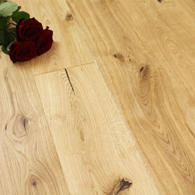 180mm Matt Lacquered Engineered Knotty Oak Click Wood Flooring 2.77m²