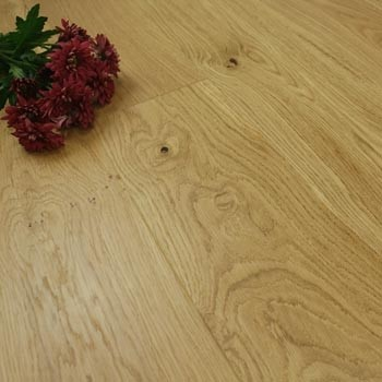 185mm Brushed & Super Matt Lacquered Engineered Medium Oak Click Wood Flooring 2.33m²