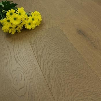 185mm Handscraped & Super Matt Lacquered Engineered Espresso Oak Click Wood Flooring 2.33m²