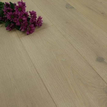 190mm Handscraped & UV Oiled Engineered White Washed Oak Click Wood Flooring 2.17m²