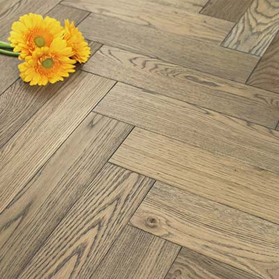 90mm UV Oiled Engineered Sand Dune Oak Parquet Block Wood Flooring 1.8144m²