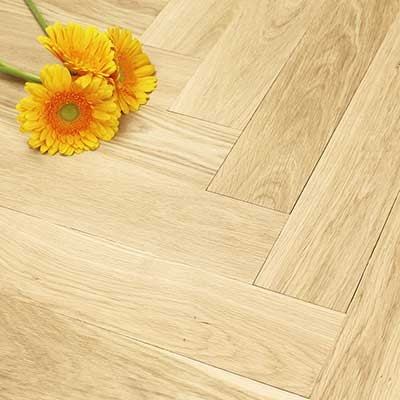 100mm Unfinished (Square Edge) Engineered Oak Parquet Block Wood Flooring 0.5m2