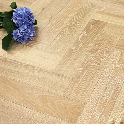 90mm UV Oiled Engineered Seabreeze Oak Parquet Block Wood Flooring 1.8144m²
