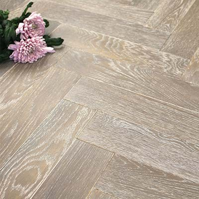 90mm Oiled Engineered Rocksalt Oak Parquet Block Wood Flooring 2.016m²