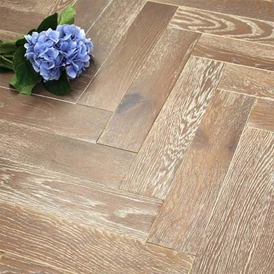 90mm Oiled Engineered Moroccan Flame Oak Parquet Block Wood Flooring 2.016m²