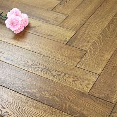 100mm UV Oiled Engineered Caramel Oak Parquet Block Wood Flooring 0.5m²