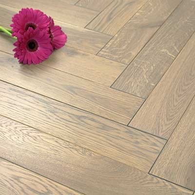 100mm Oiled Engineered Oak Grey Parquet Block Wood Flooring 0.5m2