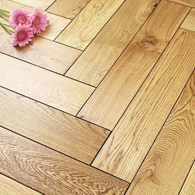 Engineered Black UV Oiled Oak Parquet Block Wood Flooring 0.5m²