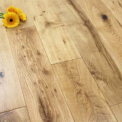 125mm Lacquered Engineered Rustic Oak Wood Flooring 2.2m²