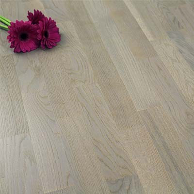 3-Strip Matt Lacquered Engineered Rustic Oak Grey Wood Flooring 2.56m²