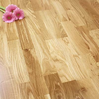3-Strip Lacquered Engineered Rustic Oak Wood Flooring 2.56m²