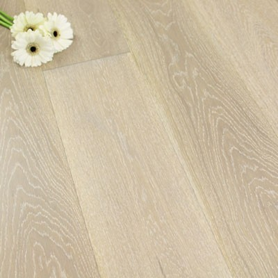 180mm Matt Lacquered Engineered Nordic Grey Oak Click Wood Flooring 2.77m²
