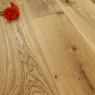 190mm Brushed & Oiled Engineered Oak Wood Flooring 1.80m²