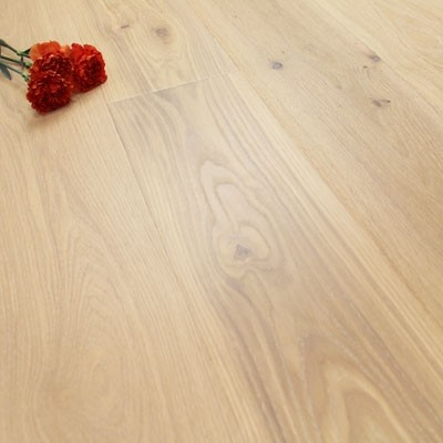 182mm Brushed & Natural Oiled Engineered Oak Warm Mist Click Wood Flooring 2.4m²