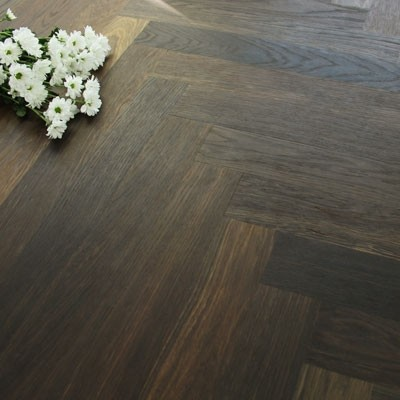 70mm Engineered Brushed & Oiled Burnt Clay Oak Parquet Block Wood Flooring 1.68m²