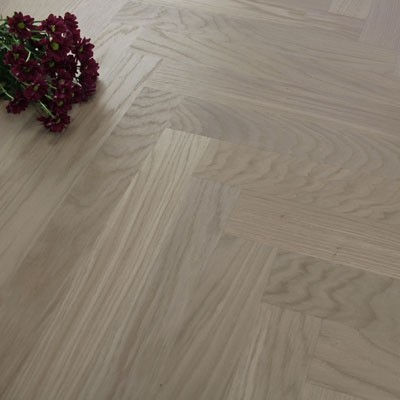 70mm Engineered Brushed & Oiled Sabre Grey Oak Parquet Block Wood Flooring 1.68m²