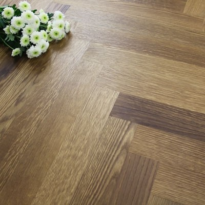 70mm Engineered Brushed & Oiled Light Pecan Oak Parquet Block Wood Flooring 1.68m²
