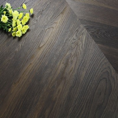 140mm Engineered Brushed & Oiled Smokey Chocolate Oak Chevron Block Wood Flooring 1.45m²