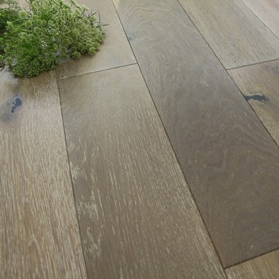 150mm Brushed & Oiled Engineered Smoked Husk Grey Oak Wood Flooring 1.98m²