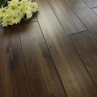 125mm Saw Cut Lacquered  Weathered Solid  Hickory Wood Flooring 2.2m²