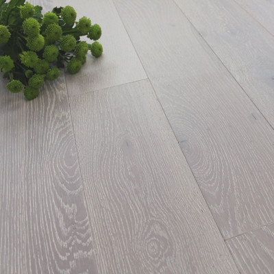150mm Brushed & UV Oiled Engineered Canvas White Oak Wood Flooring 1.98m²
