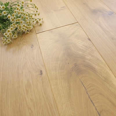 180mm UV Oiled Engineered White Stained Oak Wood Flooring 1.58m²
