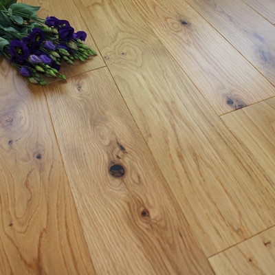 125mm Engineered Matt Lacquered Rustic Oak Wood Flooring 2.2m²