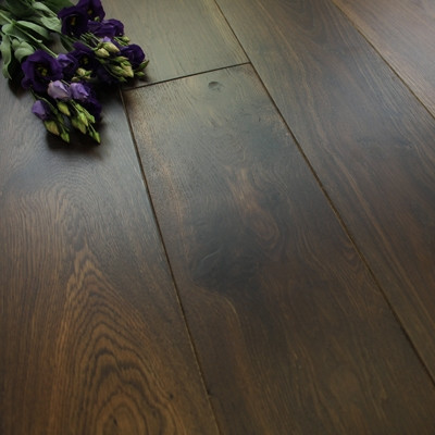 160mm Engineered UV Oiled Deep Smoked Oak Wood Flooring 1.41m²