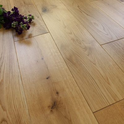 150mm Engineered Matt Lacquered Rustic Oak Wood Flooring 2.89m²