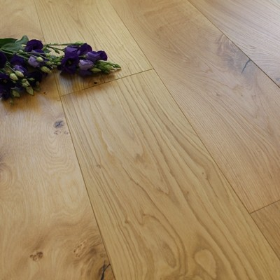 190mm Engineered Natural UV Oiled Oak Wood Flooring 2.17m²