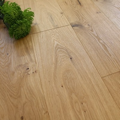 190mm Engineered Brushed and UV Oiled Rustic Oak Wood Flooring 1.81m²