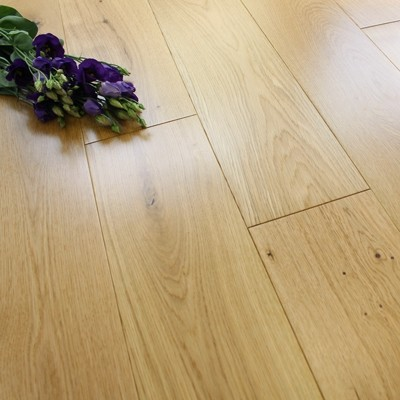 150mm Lacquered Engineered Natural Oak Wood Flooring 1.98m²