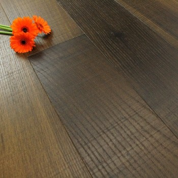 185mm Brushed & Matt Lacquered Engineered Cross Sawn Smoked Oak Click Wood Flooring 2.33m²