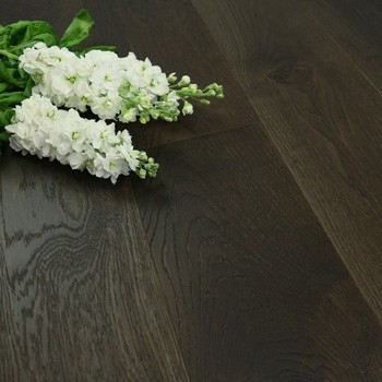 190mm Handscraped & UV Oiled Engineered Ebony Oak Wood Flooring 2.17m²