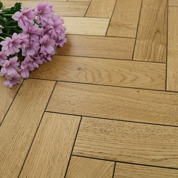 90mm Engineered Golden Rustic Matt Lacquered Parquet Block Wood Flooring 1.1664m²