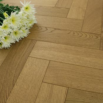 90mm Engineered Mustard Brown Matt Lacquered Parquet Block Wood Flooring 1.1664m²