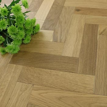 70mm Engineered Light Smoked & Wax Oiled Parquet Block Wood Flooring 0.588m²