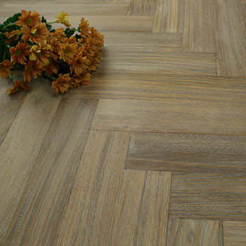 90mm Brushed & Lacquered Engineered Winter Haze Oak Parquet Block Wood Flooring 0.648m²