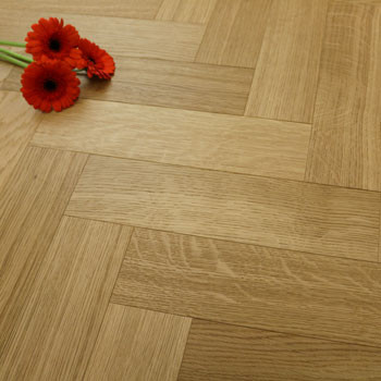 90mm Brushed & Oiled Engineered Natural Haze Oak Parquet Block Wood Flooring 0.5184m²