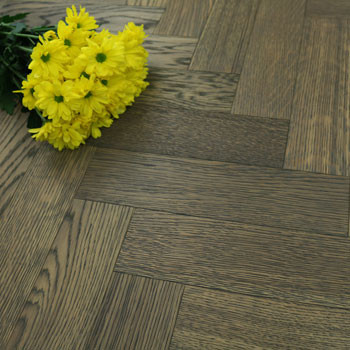 90mm Brushed & Oiled Engineered Autumn Haze Oak Parquet Block Wood Flooring 0.5184m²