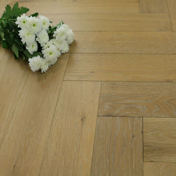120mm Brushed & Matt Lacquered Engineered Light Natural Oak Parquet Block Wood Flooring 0.864m²