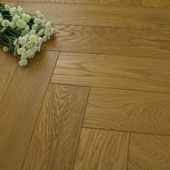 120mm Brushed & Matt Lacquered Engineered Natural Oak Parquet Block Wood Flooring 0.864m²
