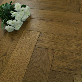 120mm Brushed & Matt Lacquered Engineered Biscuit Oak Parquet Block Wood Flooring 0.864m²