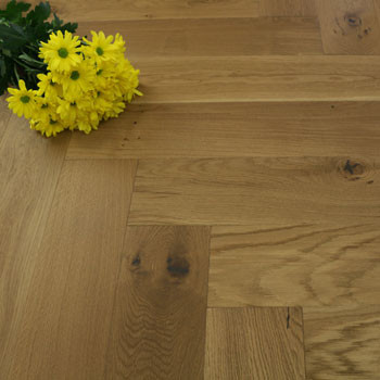 130mm Brushed & Matt Lacquered Engineered Natural Smoked Oak Parquet Block Click Wood Flooring 0.65m²