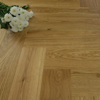 130mm Brushed & Matt Lacquered Engineered Natural Oak Parquet Block Click Wood Flooring 0.65m²