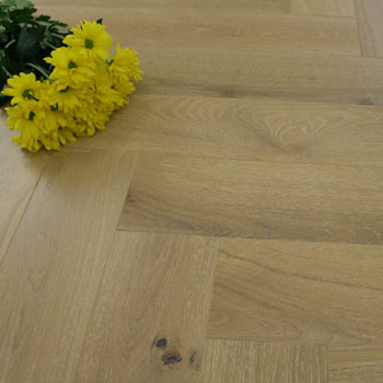 130mm Brushed & Matt Lacquered Engineered Soap White Oak Parquet Block Click Wood Flooring 0.65m²