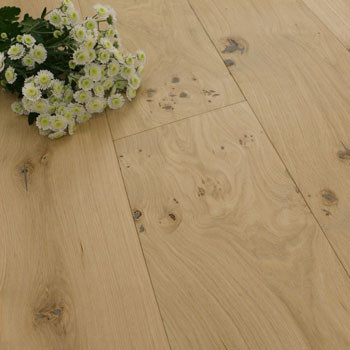 192mm Engineered Unfinished Brushed Oak Wood Flooring 1m²